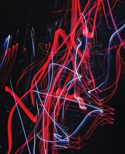 Red Blue Dark Abstract Lights